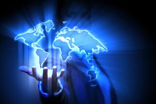 Blue global technology background with the planet Earth map.jpeg
