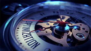 Optimization on Pocket Watch Face with Close View of Watch Mechanism. Time Concept. Vintage Effect..jpeg