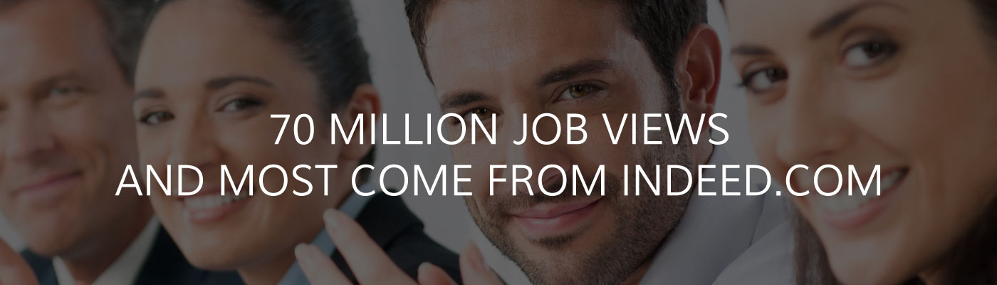 70 million job views from indeed