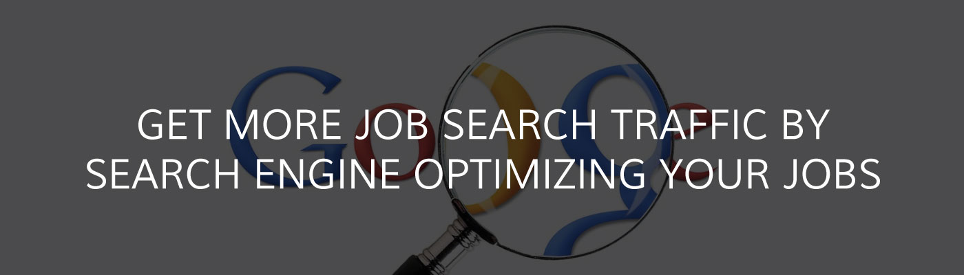 More job search traffic with effective SEO