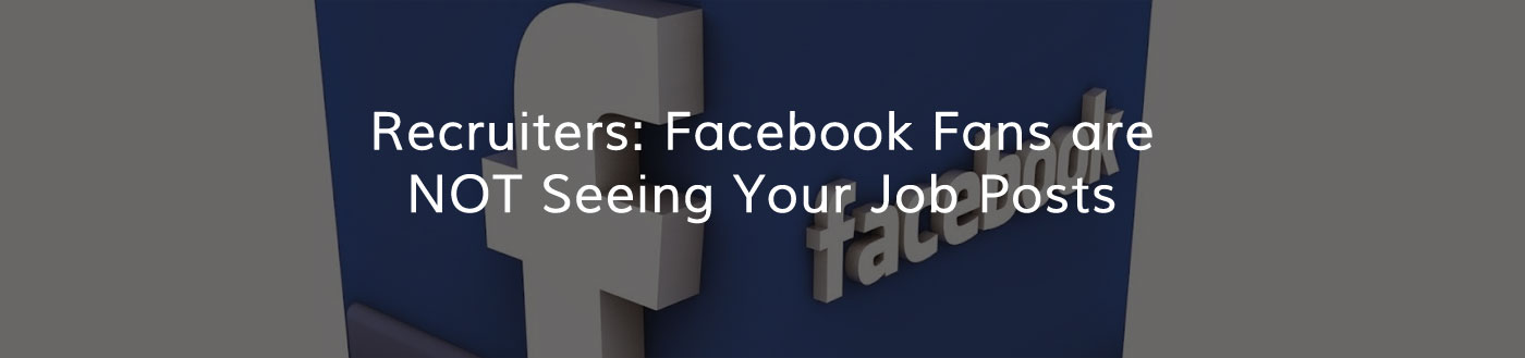 Facebook job posts may be invisible to job seekers